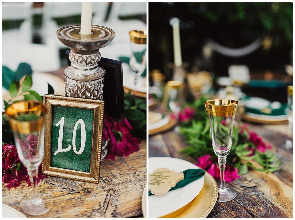 wedding details at casa cody