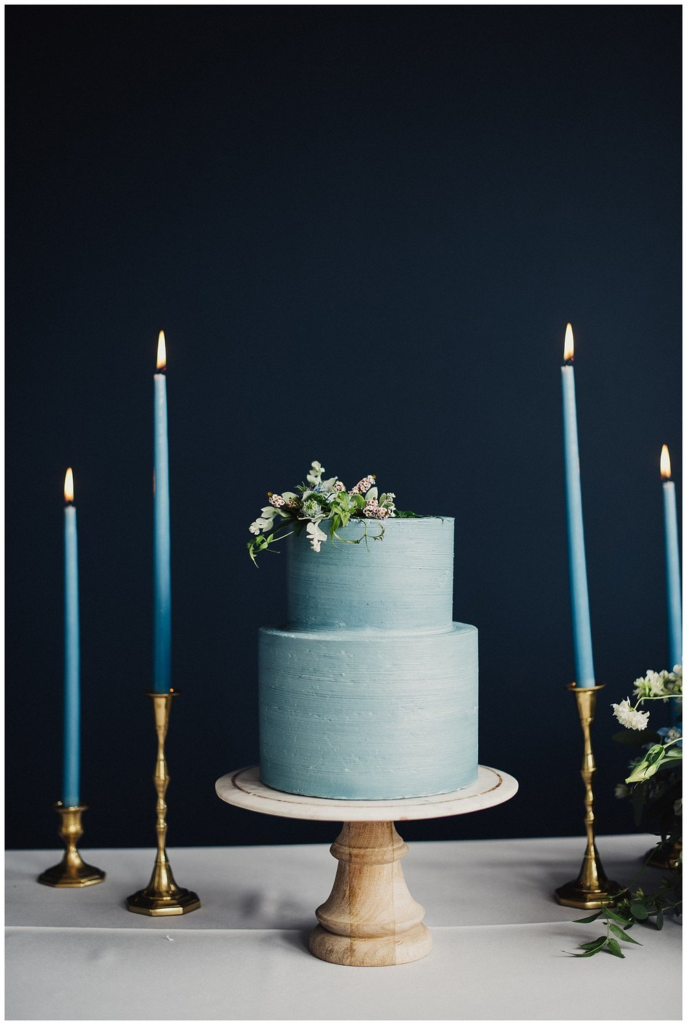 Flour and Flourish Wedding Cake