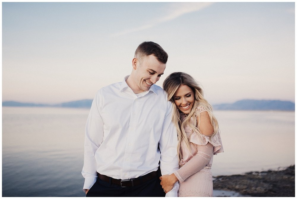 Sunset Engagement Session at Antelope Island