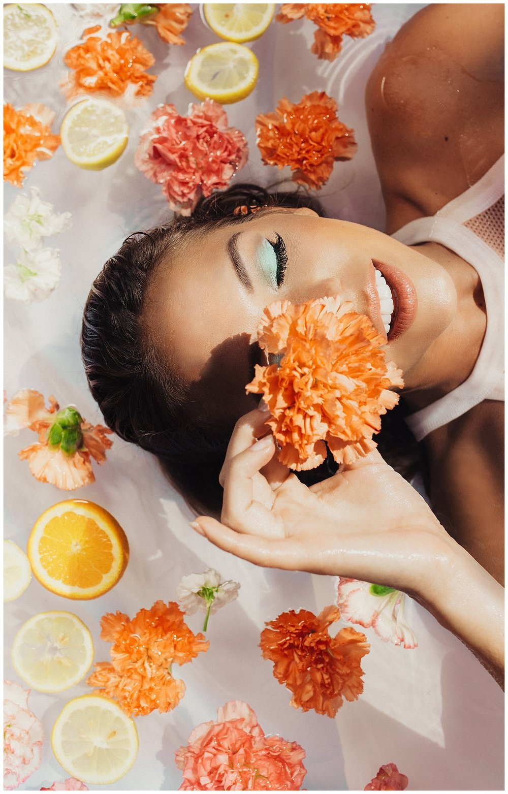 Citrus and Florals Fashion Photography