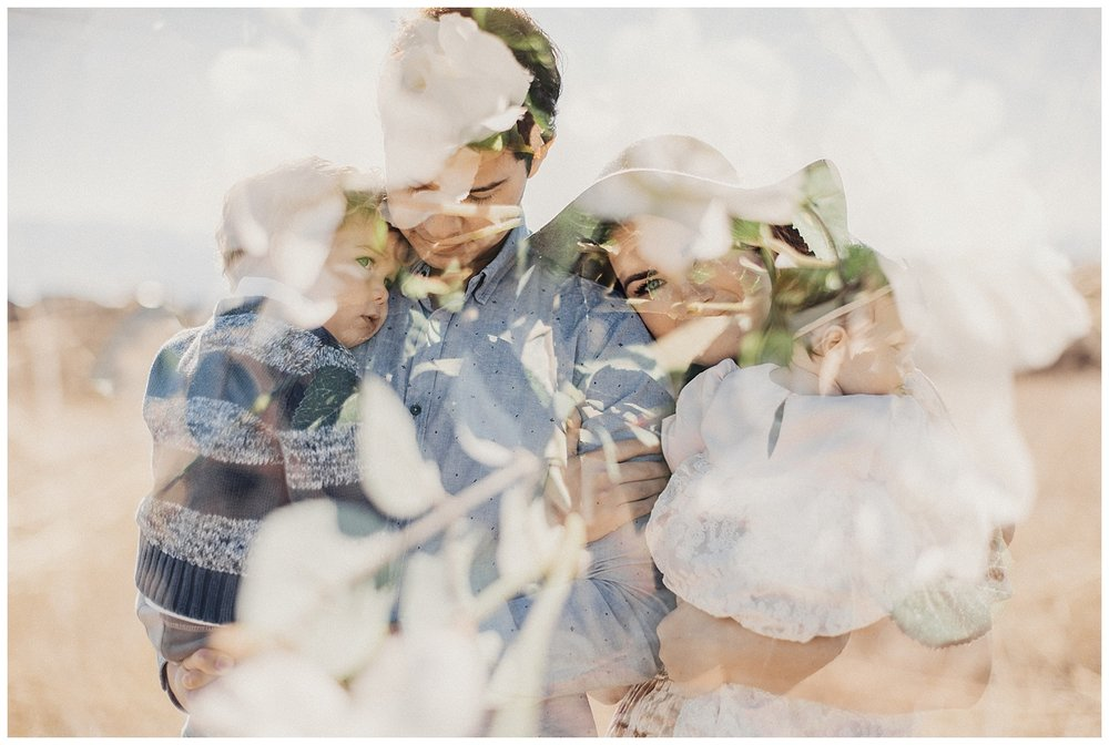 Double Exposure Family Photos