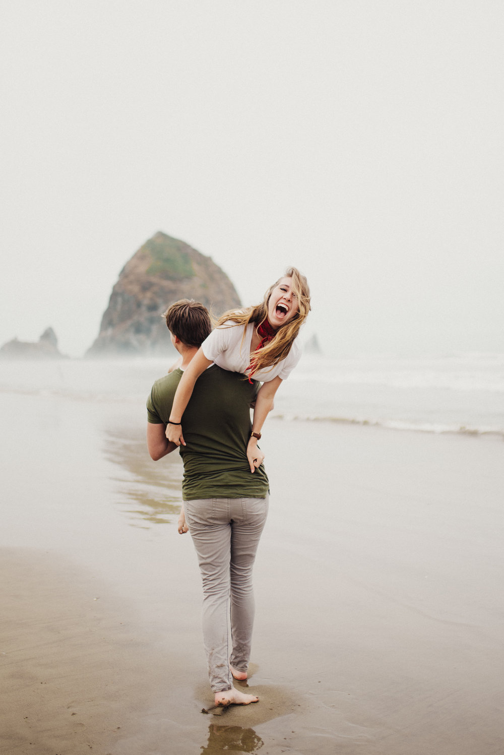 Cannon Beach Oregon Couples Session