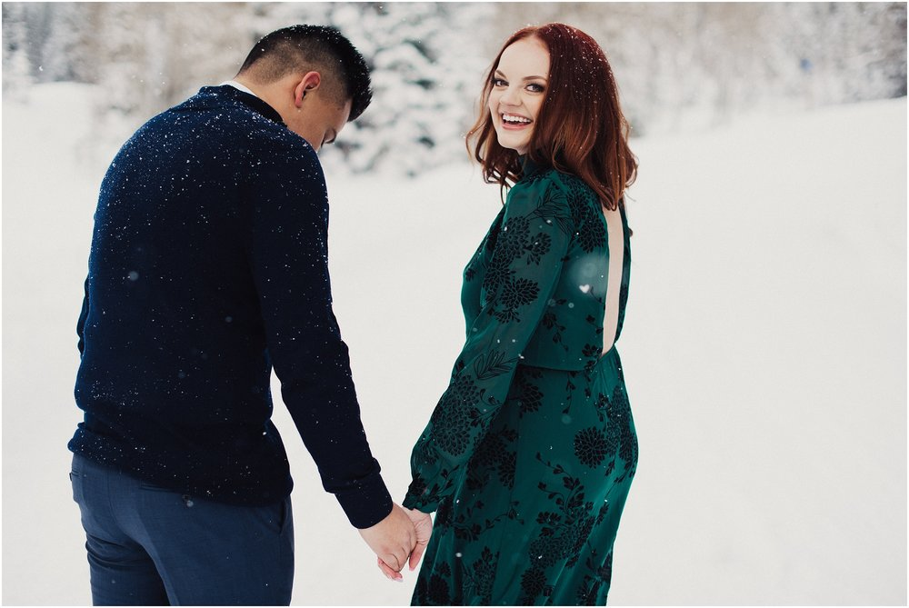 Big Cottonwood Canyon Winter Engagements