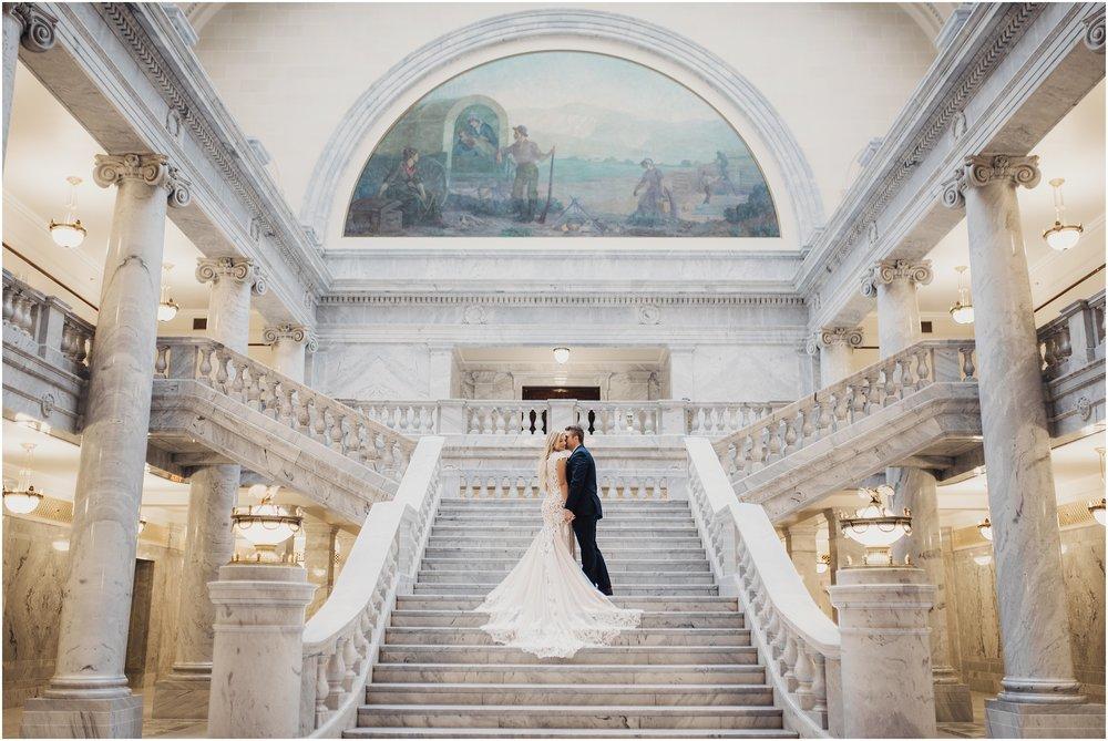 Utah State Capitol Wedding Bridals