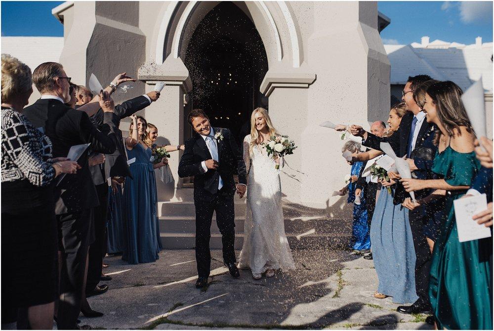 Lavender Wedding Exit