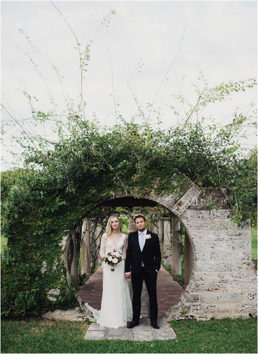 Honeymoon Arch Wedding Photo