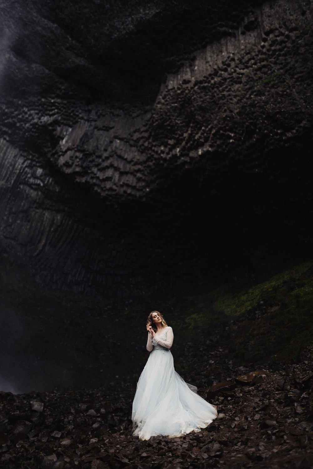 Bridal Session at Latourell Falls Oregon