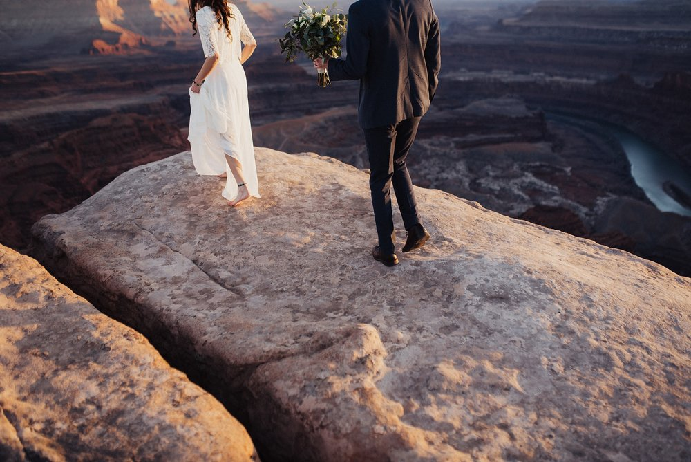 Wedding Bridals at Dead Horse Point Moab