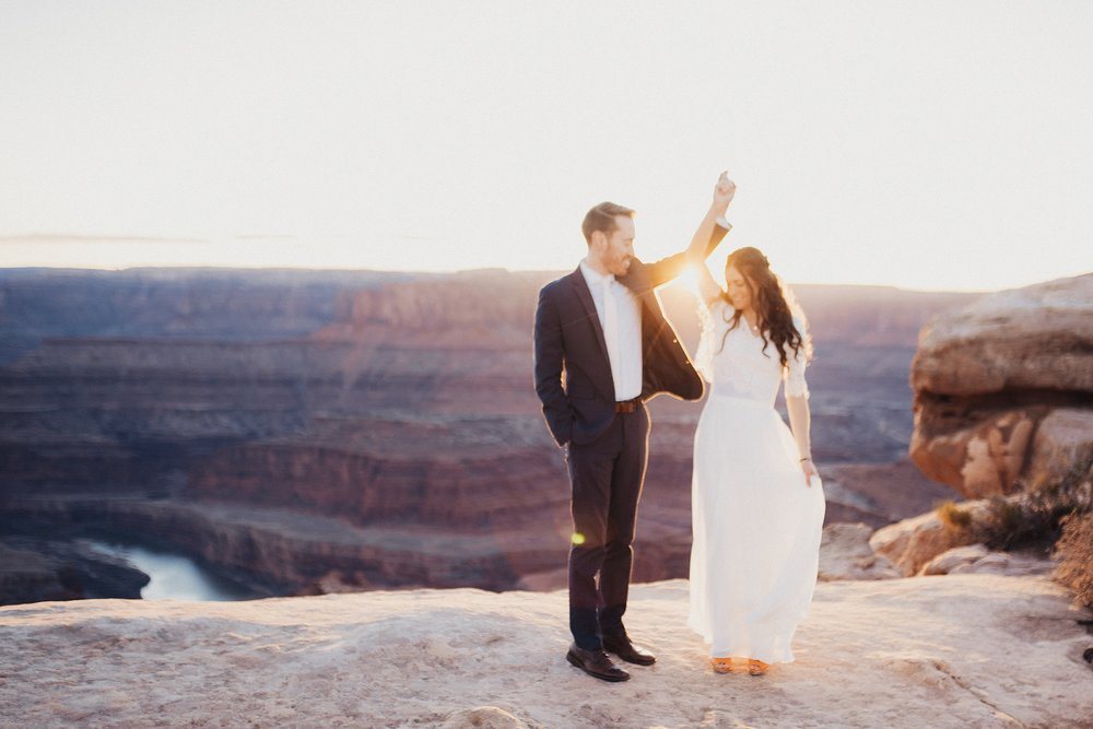 Bridal session at dead horse point