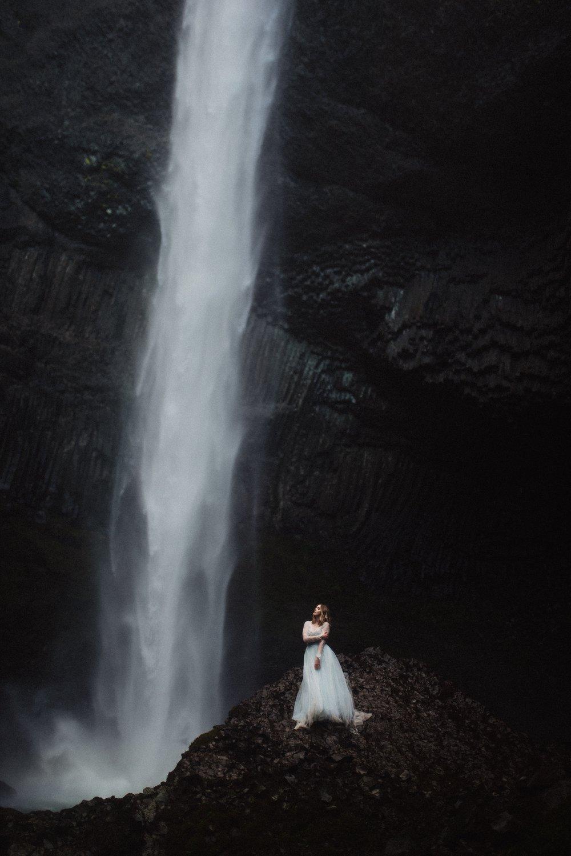 Latourell Falls Wedding Bridals