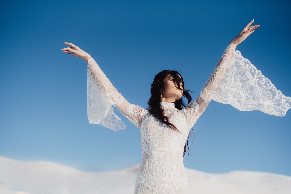 Eden Strader Photography Bell Sleeve Wedding Dress