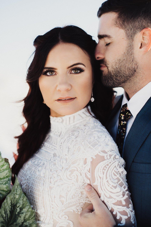 Boat Neck Lace Wedding Dress
