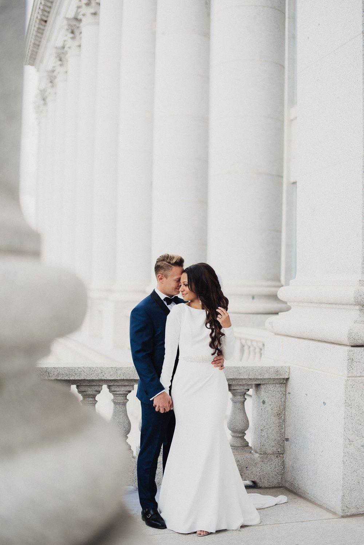 Utah Capitol First Look and Bridals
