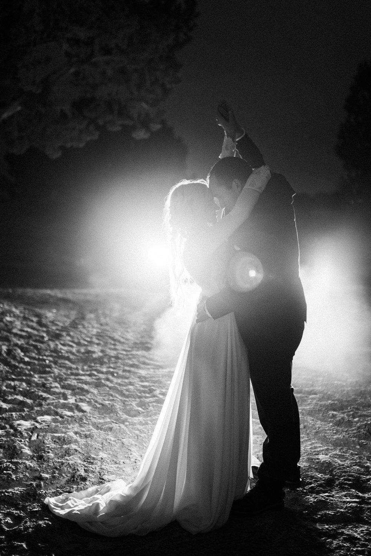Car Headlight Bridal Photos