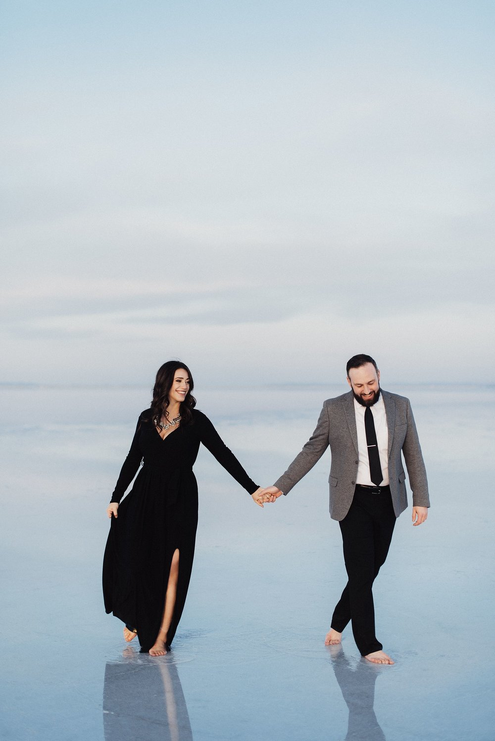 Classic Engagements at the Salt Flats