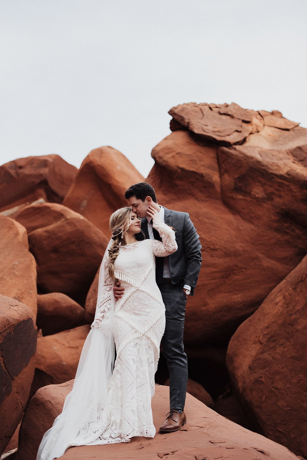 Red Rock Bridals and First Look Eden Strader