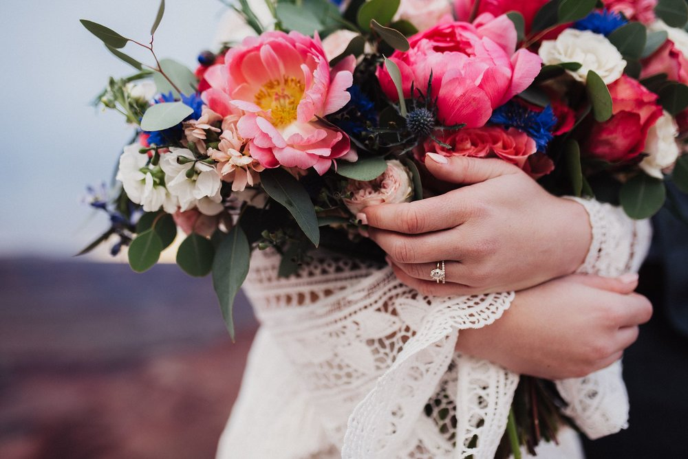 Colorful Boho Wedding Bouquet