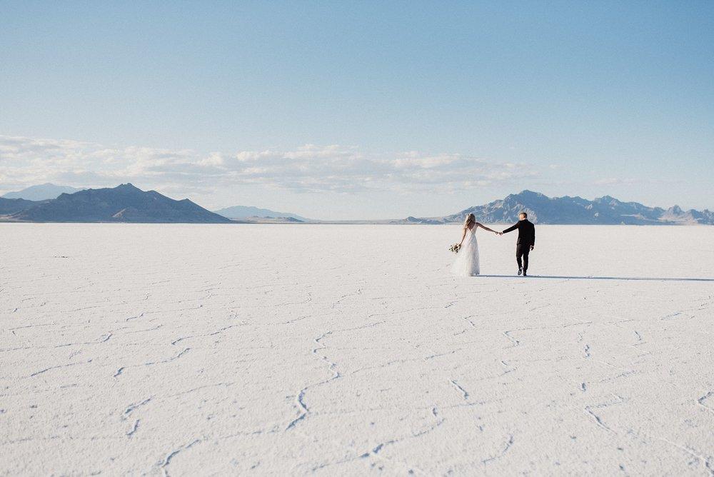 Salt Flats Elopement and Bridals