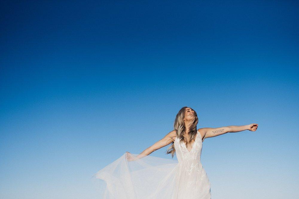 Boho Bride at the Salt Flats