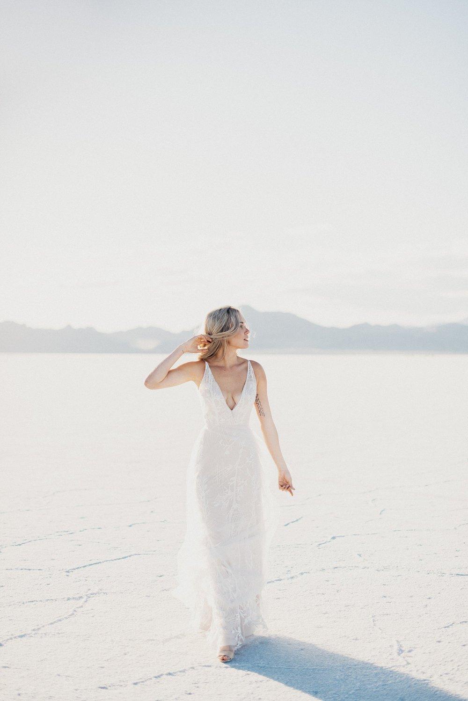 Modern Bridals Bonneville Flats
