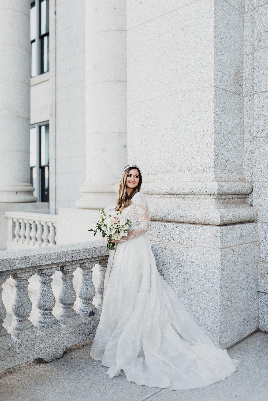 Utah Capitol Bridal Session