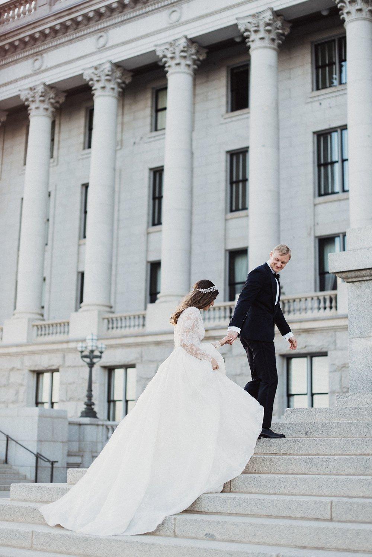 Utah Capitol Downtown Wedding