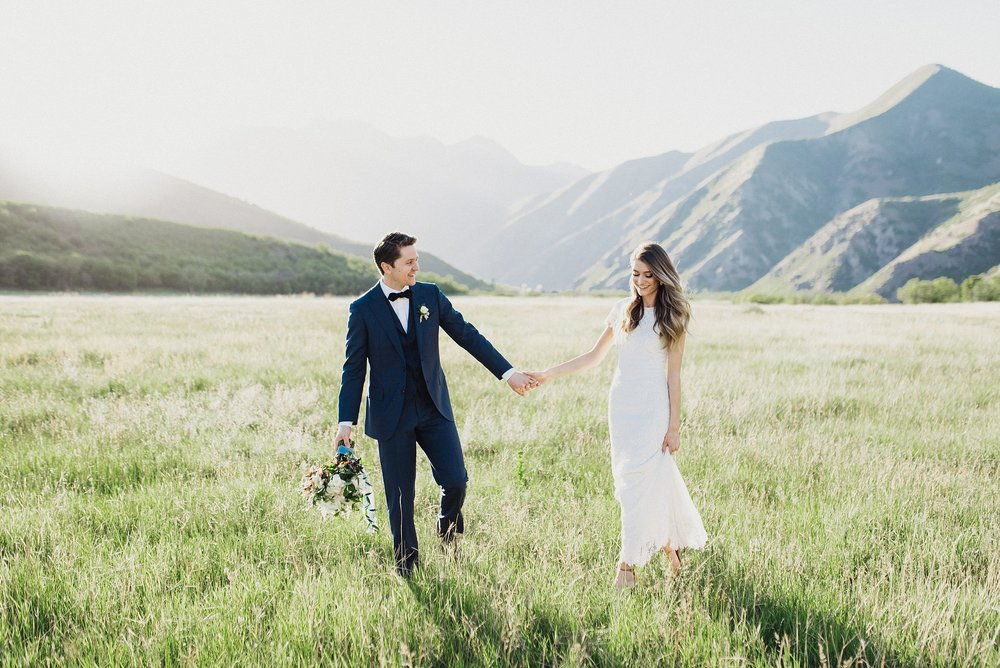 First Look and Bridal Session in Provo Canyon