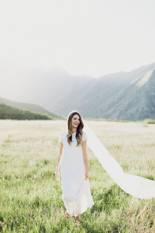 Beaded Modern Wedding Dress