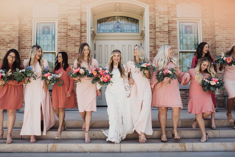 Boho Wedding Provo City Center Wedding