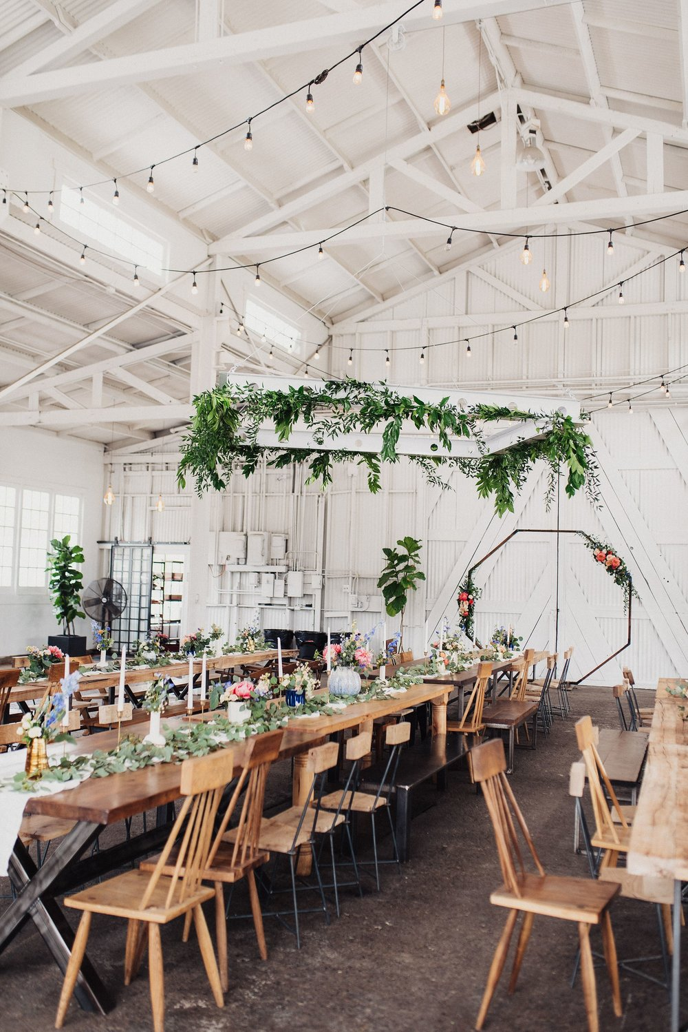 Boho Wedding Reception White Shanty