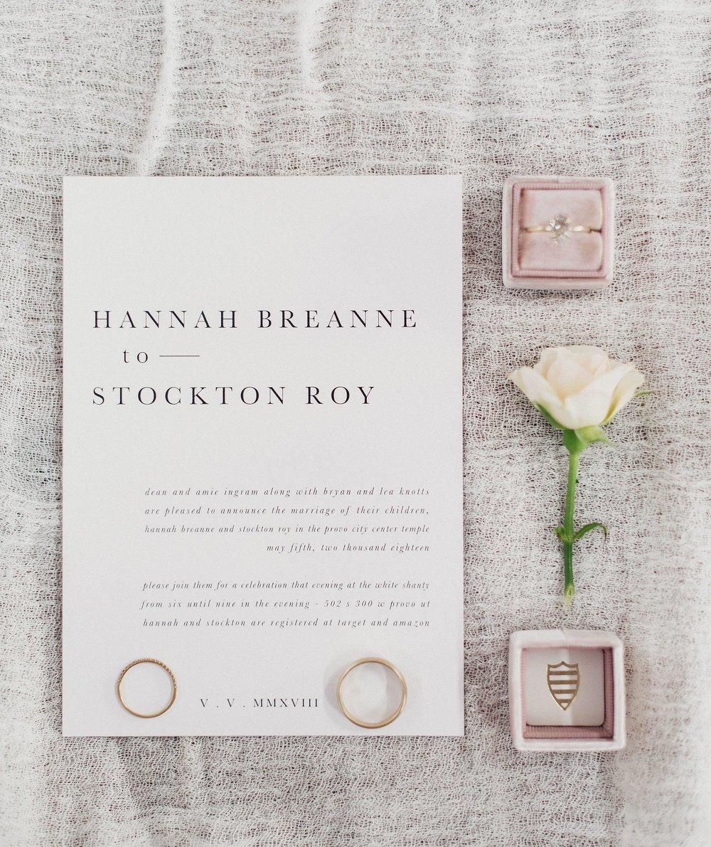 Ink and Press Co Wedding Details