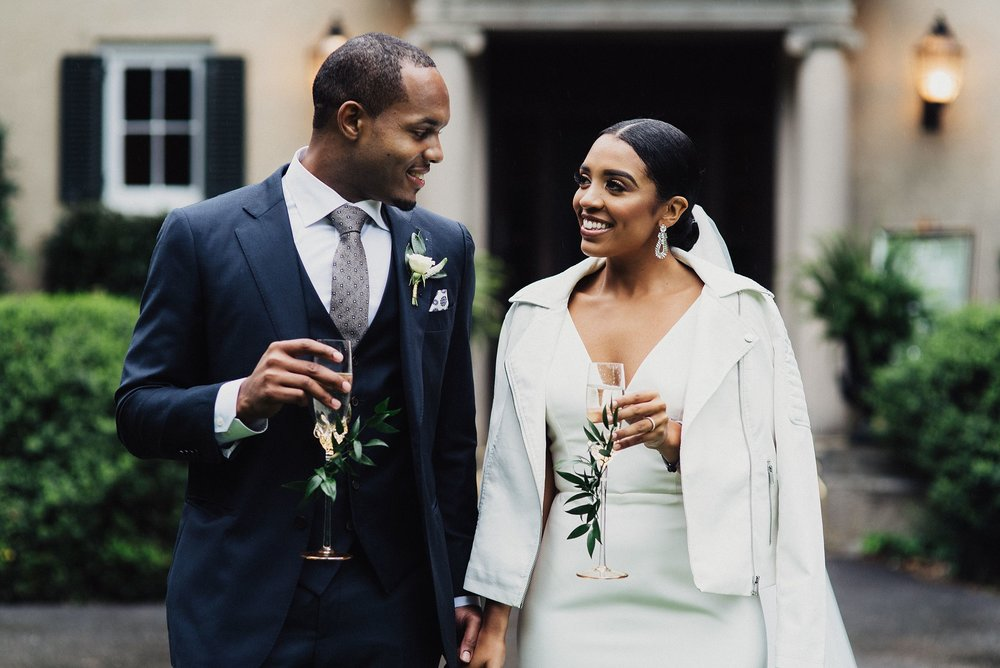 modern and edgy spring wedding in connecticut