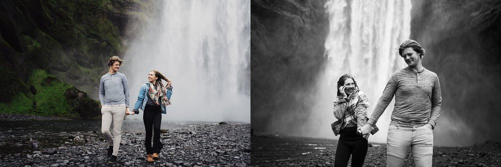Skogafoss Iceland couples session