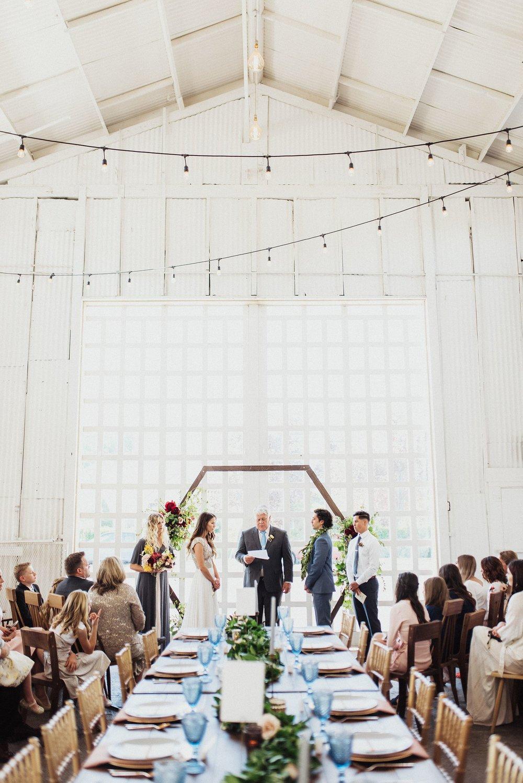 the white shanty reception utah wedding