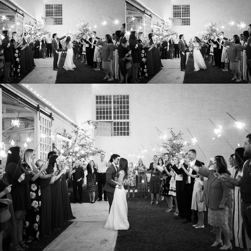 sparkler exit at white shanty wedding