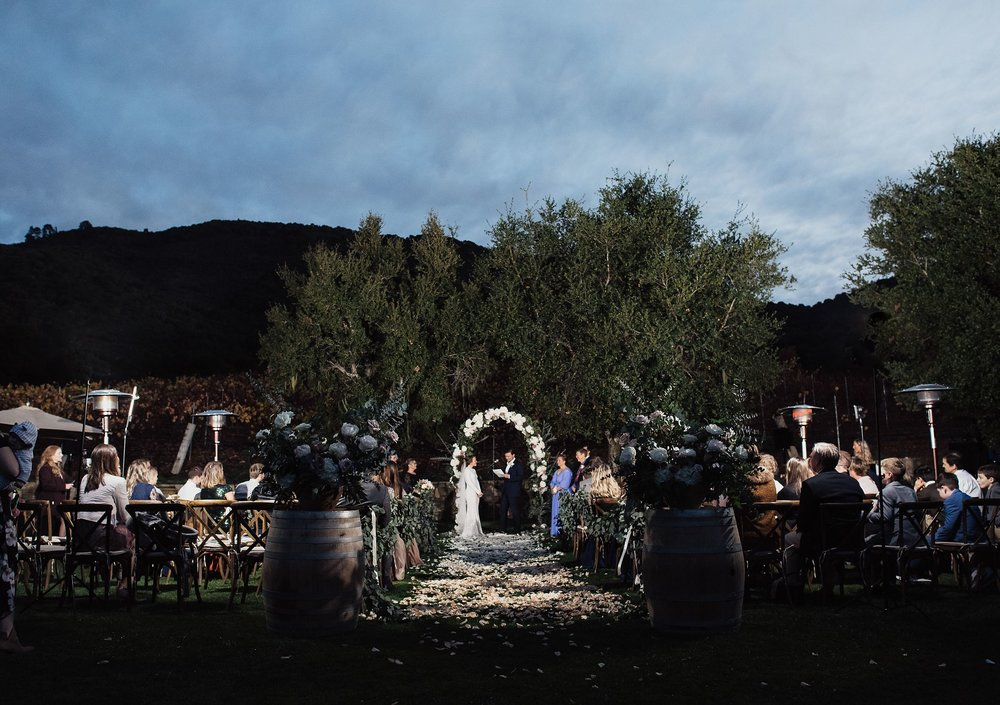 wedding ceremony at carmel valley ranch