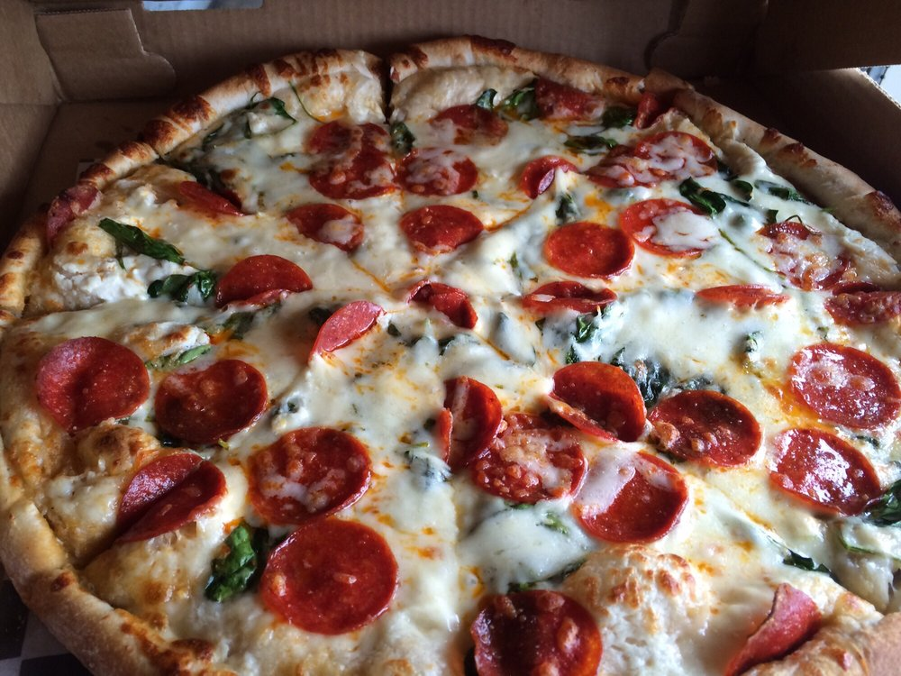 Copy of Pepperoni and Spinach Pizza