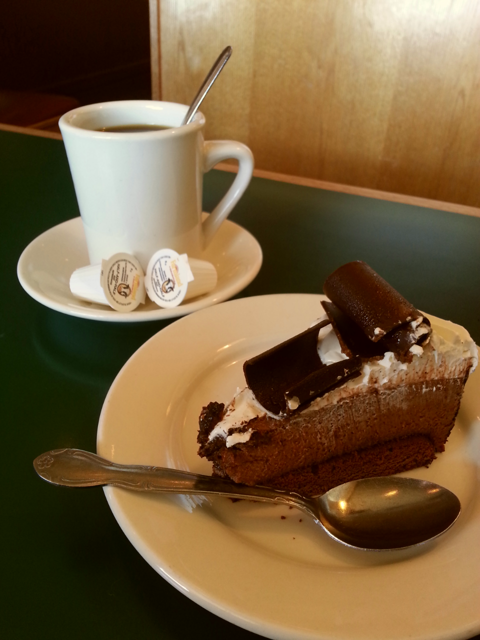 Chocolate Mousse Cake and Coffee!
