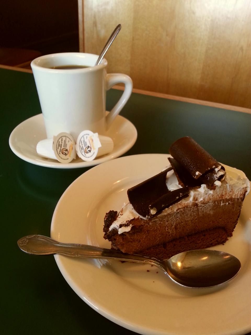 Copy of Copy of Copy of Copy of Chocolate Mousse Cake and Coffee!