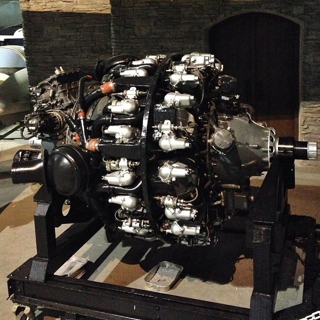 This is a Pratt and Whitney R3350. It's an 18 cylinder dual row supercharged radial which could produce upwards of 3700hp. Four of these powered the #B29