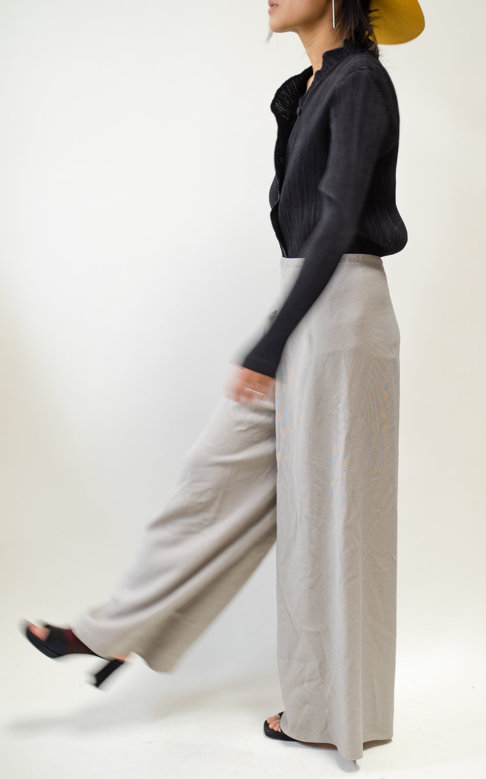"Light Grey Wide Leg Trousers 28"" Waist $30"