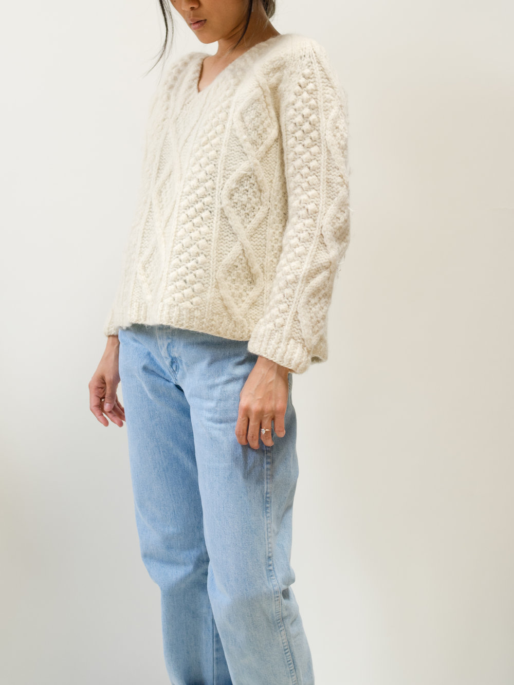 Cream Italian Wool Sweater Size XS $40