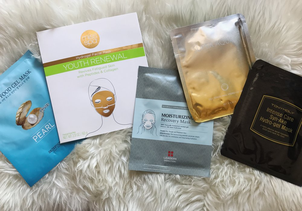 "I did not review the middle mask ""Moisturizing Recovery Mask"" since it was not a hydro-gel mask. It said it was a ""gel mask"" but when I opened it, it was just a regular paper mask. ***"
