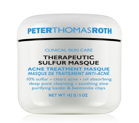 """Therapeutic Sulfur Masque is a medicated formula with maximum strength 10 percent sulfur, purifying kaolin, and bentonite clays to dry and clear acne blemishes and help prevent their return. Designed to exfoliate dead skin cells, absorb excess oil, and help purify clogged pores, it soothes and calms with aloe vera."""