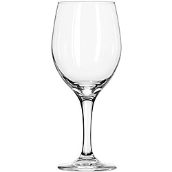 Wine Glass - Clear: These finely crafted wine glasses feature a rounded body atop a slender stem to create a stable, sophisticated product that helps add an elegant appeal to any occasion or event. They also have a large capacity so that you can sell generous portions of red or white wine in a single glass. Capacity: 20 oz.