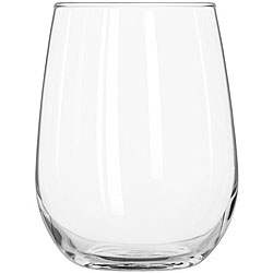 Stemless Wine Glass: Add a touch of elegant sophistication to your barware collection with these stemless wine glasses. Their unique bowl shape is ideal for serving many types of wine and cocktails plus the stemless base provides stability and eliminates the risk of stem breakage common among traditional wine glasses.  Capacity: 20 oz.
