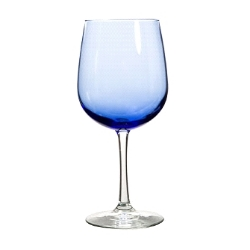 Wine Glass - Blue: Designed for versatility, these blue-hued goblets with long stems will be sure to lend an air of sophistication to your table settings! They're also great for cocktails, seltzer, water, and more. Capacity 18.5 oz.