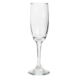 Flute: Clear classic champagne flutes are a striking addition to any event! Stout bowls gently tapers to a sturdy stem and is an ideal addition to casual and formal affairs alike. From morning mimosas to expensive evening bubbly, slender bowls also help champagne retain its bubbles. Capacity 6.25 oz.