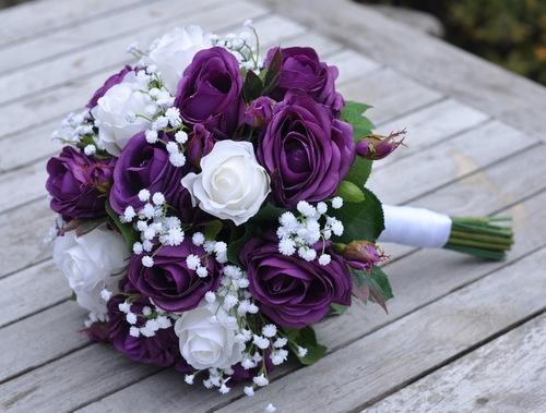 Violet Wedding Flowers — Holly\'s Wedding Flowers