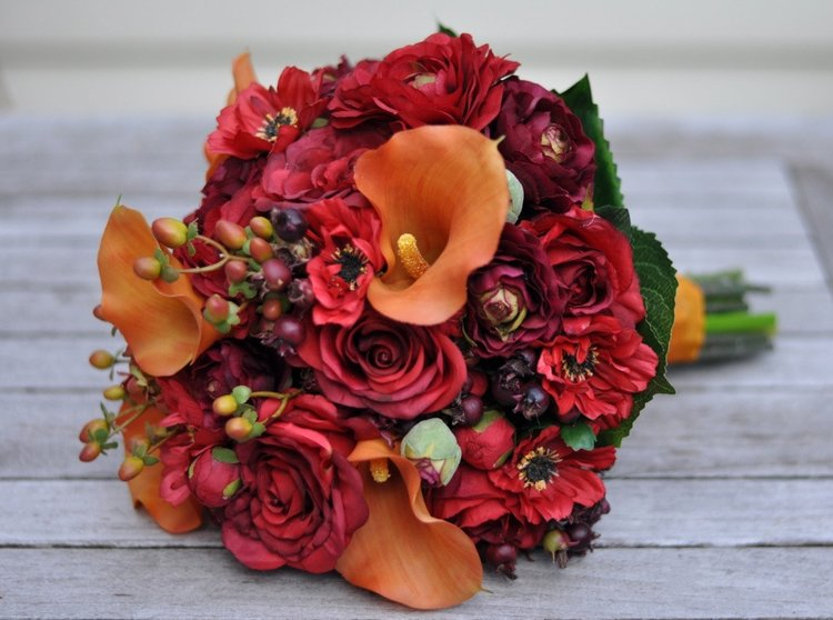 Vibrant fall wedding bouquet hollys wedding flowers vibrant fall wedding bouquet junglespirit Choice Image